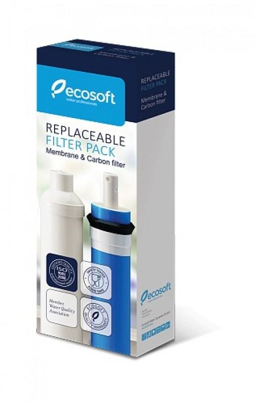 Комплект картриджей Ecosoft для фильтров обратного осмоса (мембрана, постфильтр) CSVRO50ECO