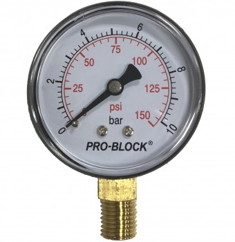 "Манометр радиальный Pedrollo Pro-Block 63 x 1/4"" - 10 бар"