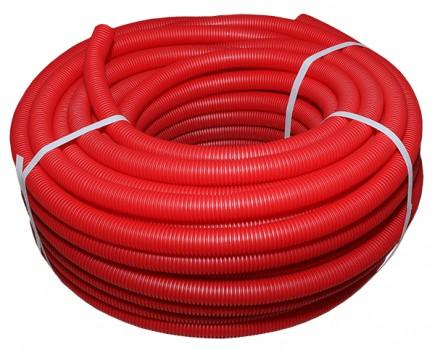 Защитный кожух для труб красный - 35 (50м)