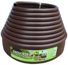 Садовый бордюр Gartec (коричневый) - 20м