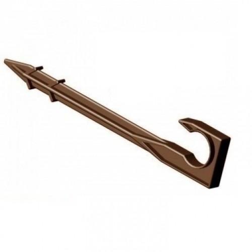 Шпилька-держатель капельной трубы - 16 (коричневая)