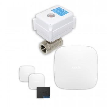 "Защита от протечек воды AJAX hub + Кран с электроприводом Neptun Aquacontrol 220В One 1/2"" (White)"