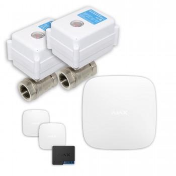 "Защита от протечек воды AJAX hub + Кран с электроприводом Neptun Aquacontrol 220В Duo 1/2"" (White)"