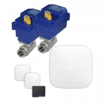 Защита от протечек воды AJAX hub + Кран с электроприводом Neptun Bugatti 220V Duo 1/2'' (White)