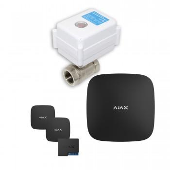 "Защита от протечек воды AJAX hub + Кран с электроприводом Neptun Aquacontrol 220В One 3/4"" (Black)"
