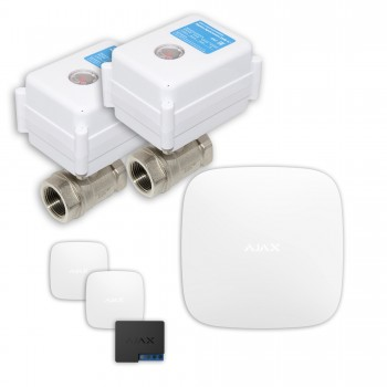 "Защита от протечек воды AJAX hub + Кран с электроприводом Neptun Aquacontrol 220В Duo 3/4"" (White)"