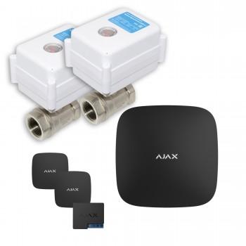 "Защита от протечек воды AJAX hub + Кран с электроприводом Neptun Aquacontrol 220В Duo 1"" (Black)"