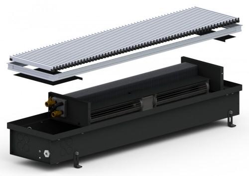 Внутрипольный конвектор с вентилятором Carrera 4 SV Black 120 (245.1000.120)