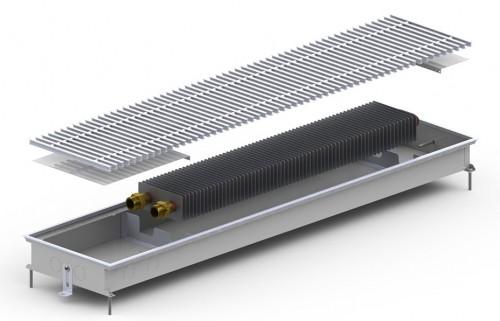 Внутрипольный конвектор с вентилятором Carrera MV Inox|Black 65 (300.1250.65)