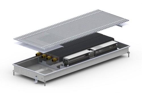 Внутрипольный конвектор с вентилятором Carrera CV2 Inox Black 65 (380.1000.65)