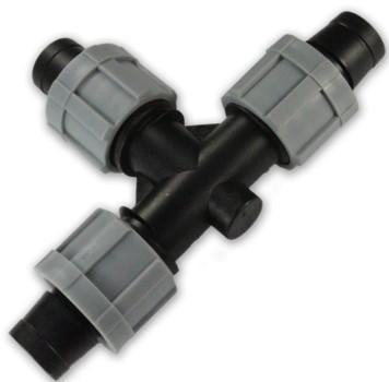 Тройник для капельной ленты (SM06-00L)