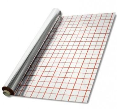 Полотно с разметкой для теплых полов Teploizol 100см x 40мк x 50м