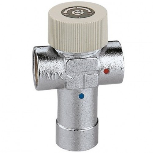 """520630 Смеситель термостат Caleffi 1"""" x 30-48°С"""