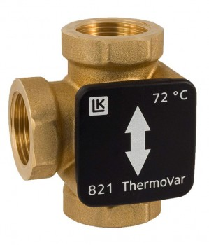 """Трехходовой термостатический клапан LK 820 ThermoVar 1 1/4"""" x 61°С"""