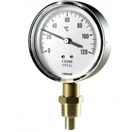 """Термометр радиальный Cewal - 80 x 1/2"""" x 0/120°C"""