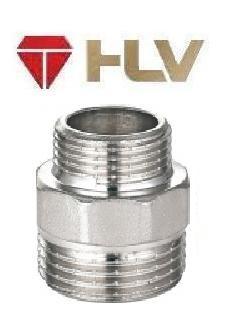 """110580 Ниппель никель HLV - 1/2"""" x 1/4"""" НН"""