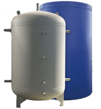 Буферная емкость в утеплителе два теплообменника Elektromet - 500л.
